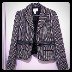 White House Black Market Black and White Blazer